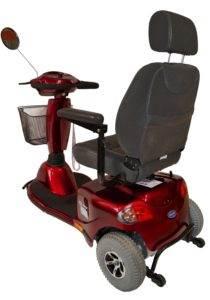 skuter inwalidzki elektryczny auriga czerwona dla seniora