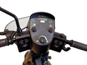 skuter inwalidzki ekektryczny minicrosser szary pulpit