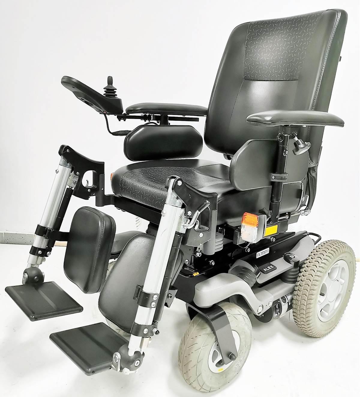 wózek inwalidzki elektryczny alex bok
