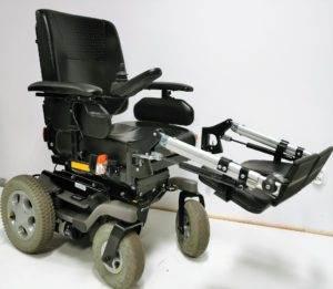 wózek inwalidzki elektryczny alex podnóżki