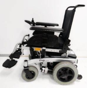 wózek inwalidzki o napędzie elektrycznym meyra basic